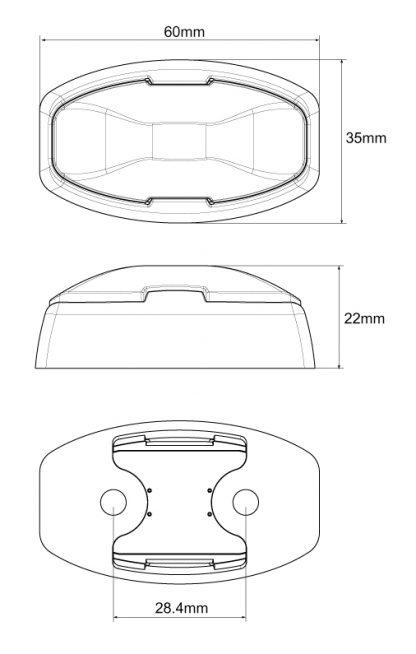 Amber Red Side Trailer Marker Lamp LED Multi Volt ADR diagram Clear